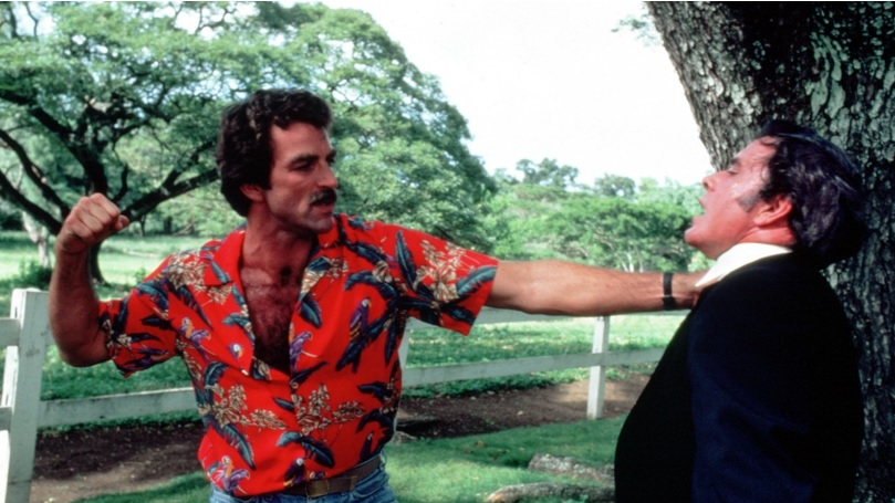 Magnum PI throwing a punch