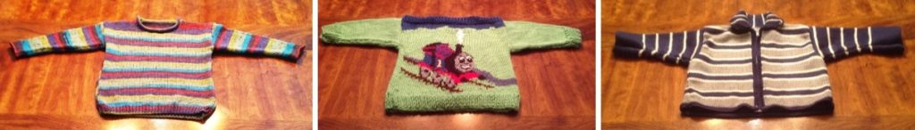 3 sweaters for children