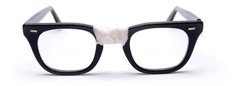 Glasses with tape