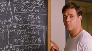 Scene from the film A BEAUTIFUL MIND